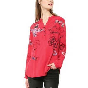 Desigual M Rouge Lisa Blouse